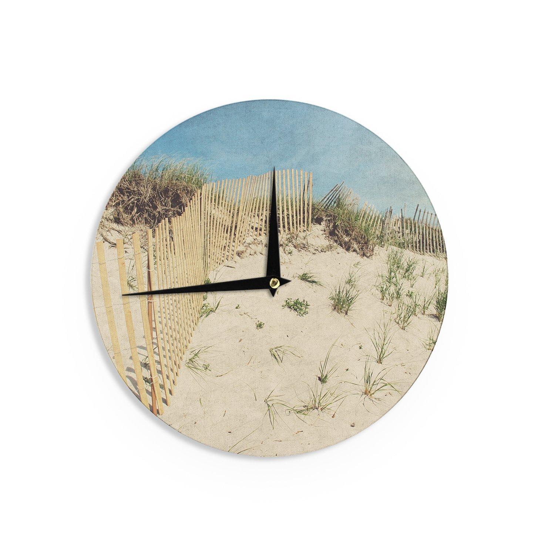 Kess InHouse Jillian Audrey Cape Dunes Brown Blue Wall Clock 12