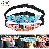 URAQT 2PCS Baby Kids Safety Head Support Hugger, Toddler Car Seat Head Strap Nap Aid Holder Belt, Neck Protection Belt