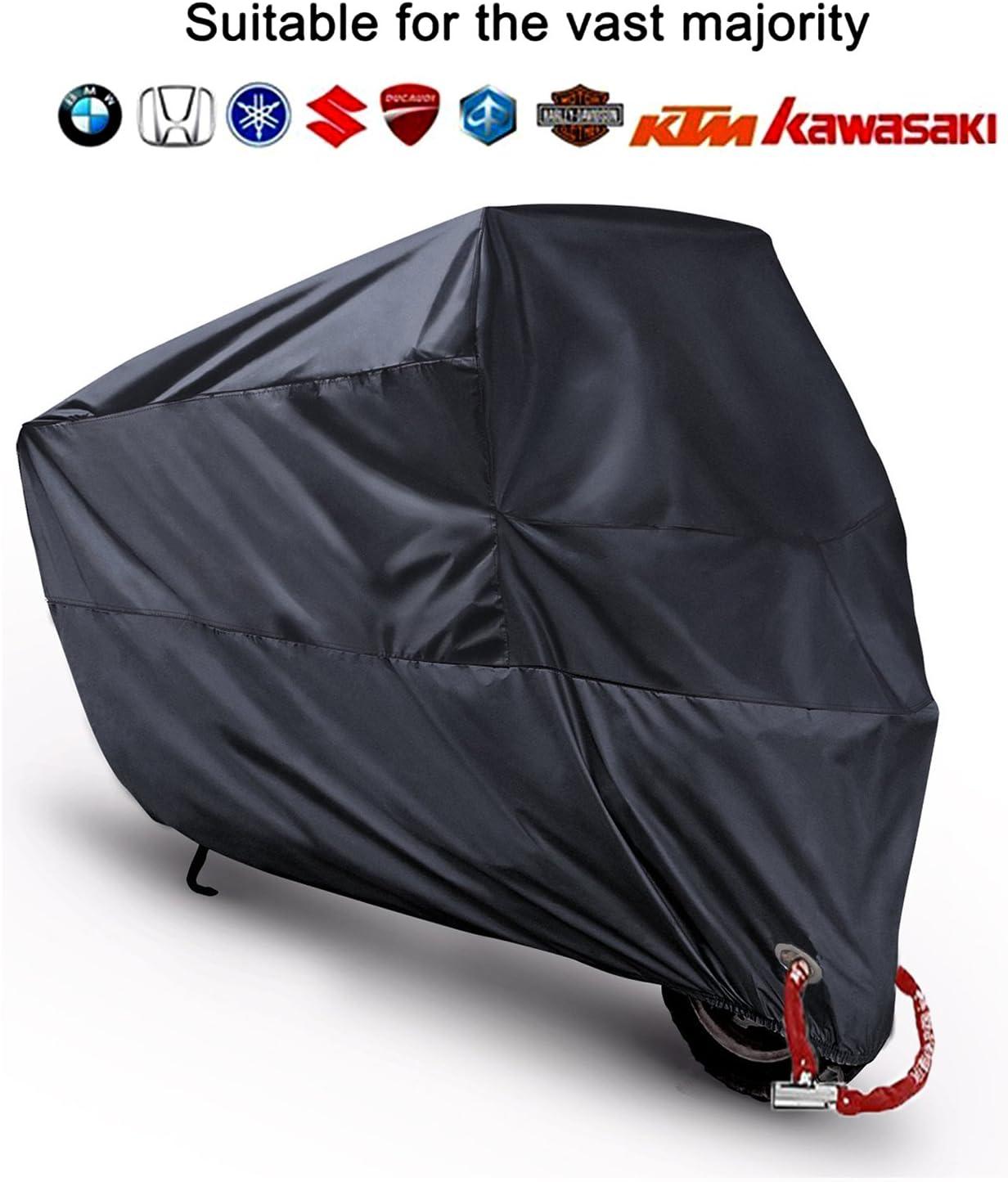 Blu L AHL Motocicletta Telo Coprimoto Impermeabile Antipolvere Anti UV Traspirante per Esterni Durante Tutto lanno