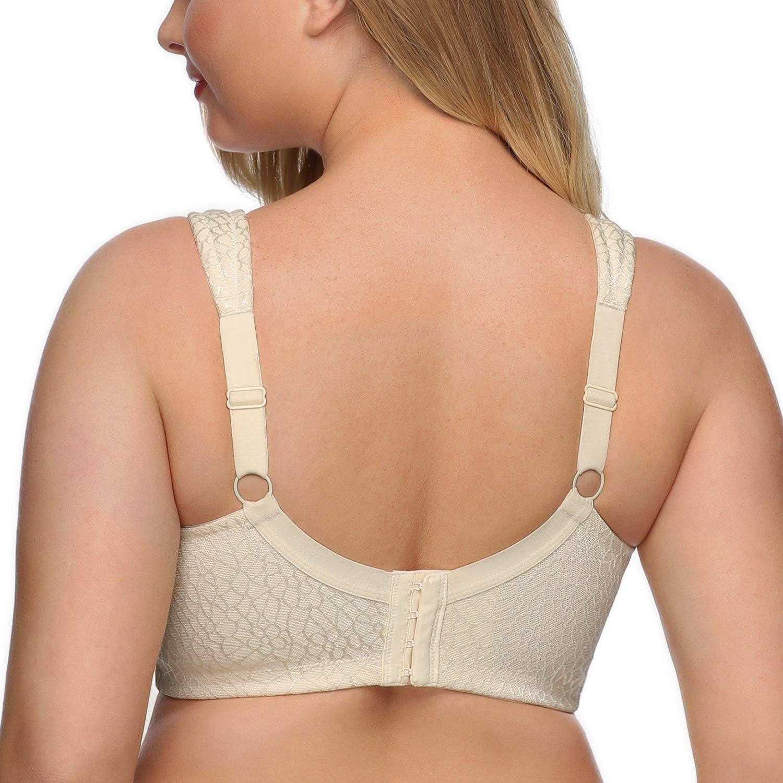 DotVol Womens Full Figure Minimizer Bras Comfort Large Busts Wirefree Non Padded Plus Size Bra