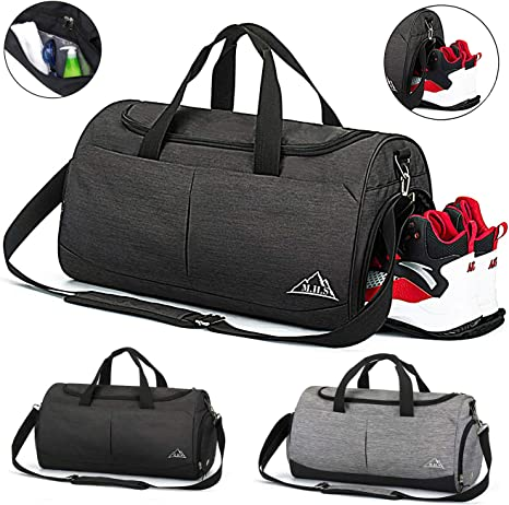 Snow Gym Sports Small Duffel Bag for Men and Women with Shoes Compartment
