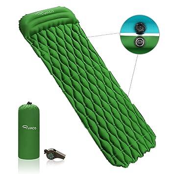Ryaco Esterilla Inflable, Portátil Ultraligero Colchón de Aire Cama al Aire Libre para Cámping con