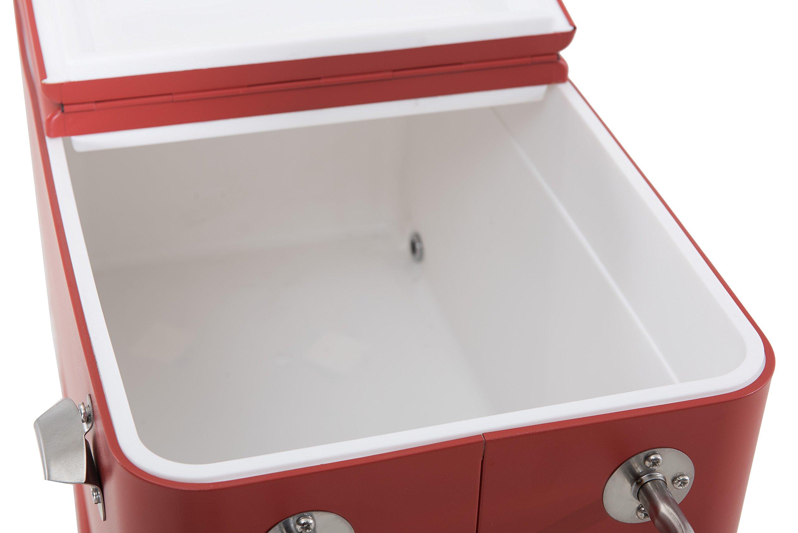 Sunjoy L-BC153PST 60 quart Wheeled Beverage Cooler in Red by sunjoy (Image #12)