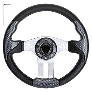 10L0L Golf Cart Steering Wheel or Adapter, Generic of Most Golf cart EZGO Club Car Yamaha by