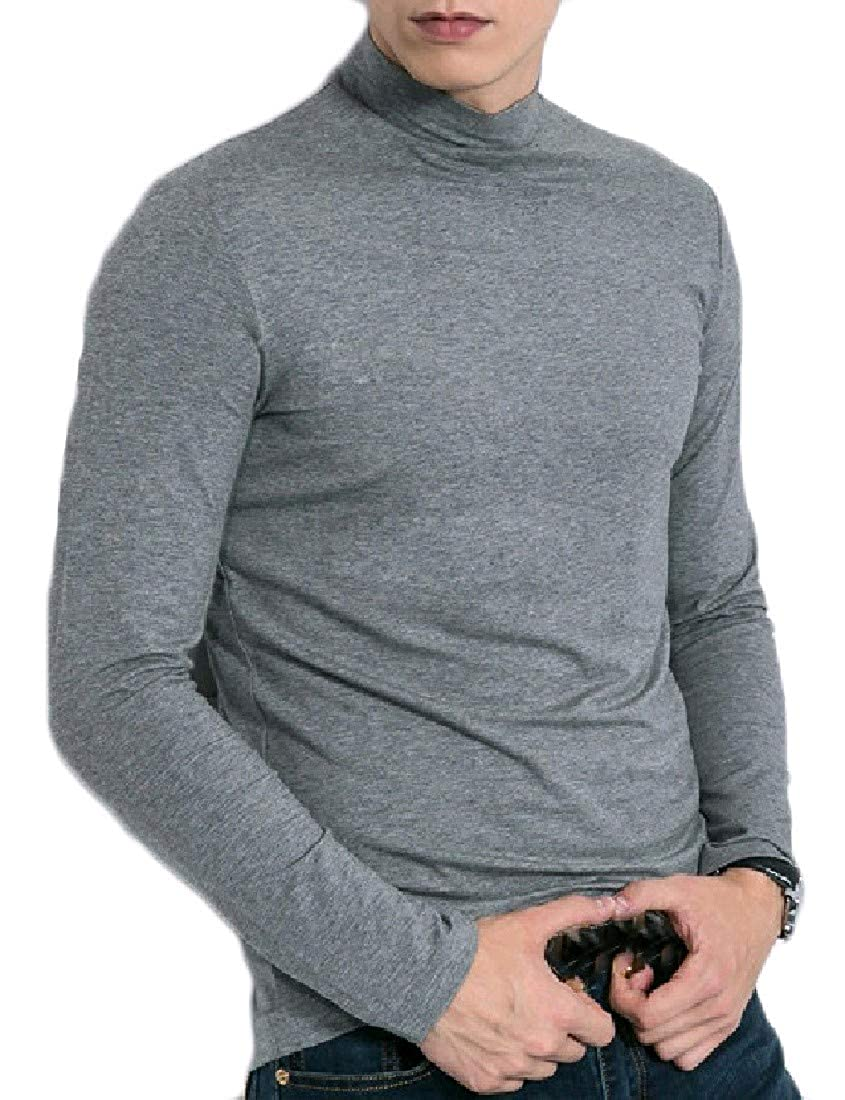 Abetteric Mens Slip Cozy Soft Chic Pullover Oversize Polo Top Tshirt