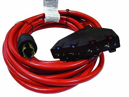 Amazon.com : Powermate PA0650192 25-Foot 20 Amp 12 Gauge 4 120 Volt ...