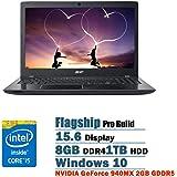 "2017 Newest Acer Aspire E 15 Flagship High Performance 15.6"" Full HD Laptop PC, Intel Core i5-6200U Dual-Core, NVIDIA GeForce 940MX 2GB GDDR5, 8GB DDR4, 1TB HDD, DVD, Bluetooth 4.1, WIFI, Windows 10"