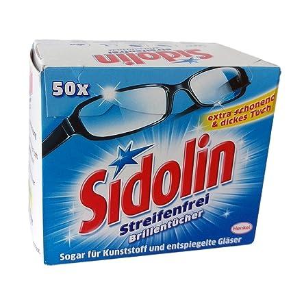 Sidolin Toallitas limpiadoras para gafas (50 unidades)