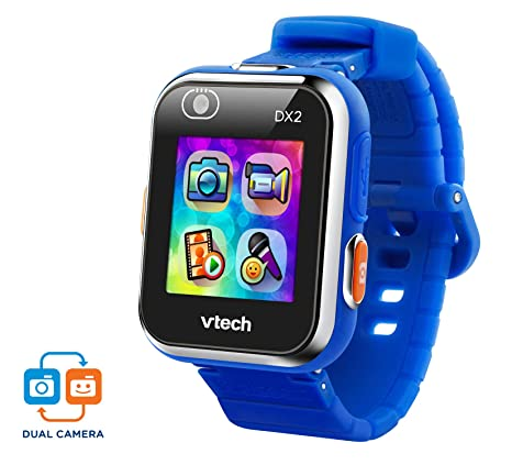 VTech Kidizoom Smart Watch DX2 - Reloj inteligente para niños con doble cámara, color azul