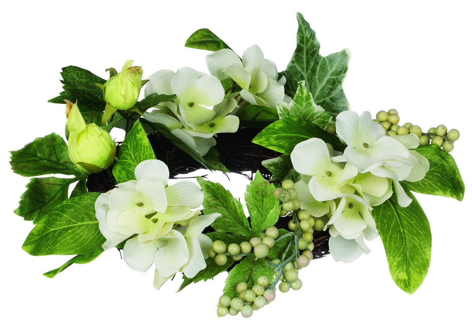 Amazon Hydrangea Floral Candle Ring For 45 Inch Pillar Candle