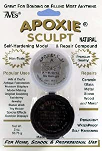 Apoxie Sculpt - 2 Part Modeling Compound (A & B) - 1/4 Pound, Natural