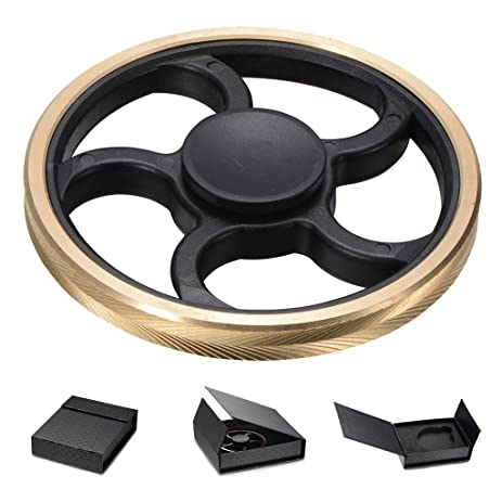 LERMX Cool Unique Metal Wheel EDC Fidget Spinner High Speed Stainless Steel Bearing ADHD Focus Anti