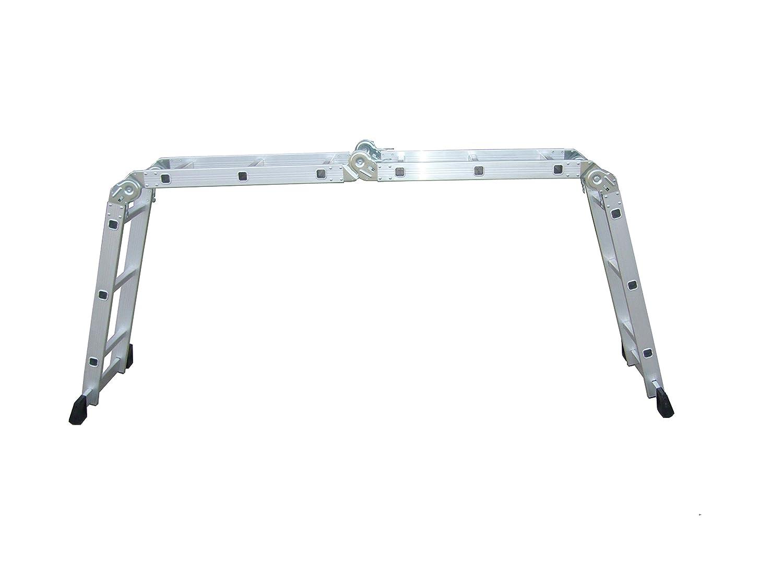 Scala alluminio Everest 4x3 multifunzione Portata max kg 150 Per uso domestico e bricolage. Biacchi S1405112