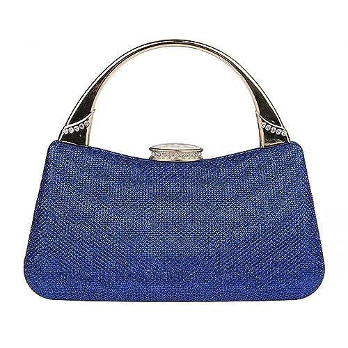 KAXIDY Mujer Bolso de Mano Cartera de Mano Elegante Bolso de Fiesta (Azul)