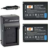 DSTE® 2x BP-1030 Battery + DC124 Travel and Car Charger Adapter for Samsung NX200 NX210 NX300 NX-300M NX1000 NX1100 NX2000 Camera as BP-1130