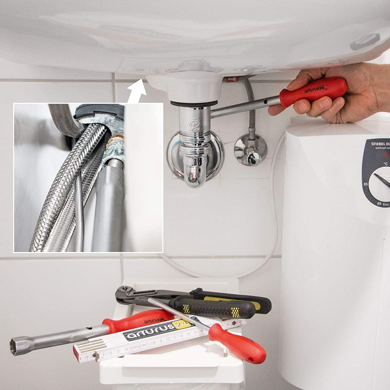 esagonale con impugnatura antiscivolo Chiave a bussola per tubi 3-17 mm KS Tools foro interno singolo in acciaio al cromo-vanadio