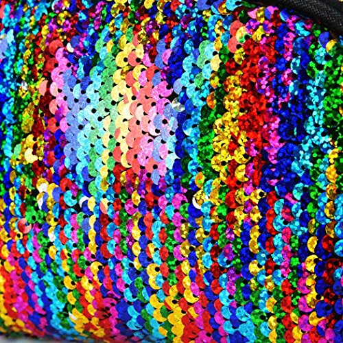 Double Bag Multicolor Handbag Zipper Sequins Color Wallet Women Women for Bag Cluthes Lavany XtxFwqa6