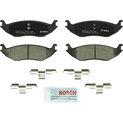 Bosch BC967 QuietCast Premium Ceramic Disc Brake Pad Set For: Chrysler Aspen; Dodge Ram 1500, Durango, Ram 1500 Van; Ram 1500, Rear: Automotive