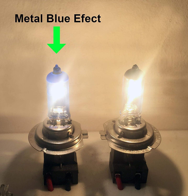 Estuche de 2 lámparas para faros halógenos KRAWEHL METAL BLUE H-7 ...