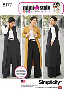 product image for Simplicity 8177 Plus Size Pants Vest or Jacket, and Top Sewing Pattern For Women by Mimi G Style Sizes BB (20W-28W).