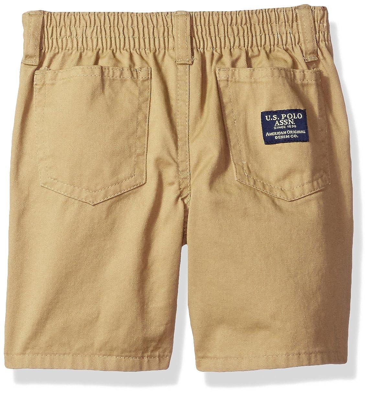 Polo Assn U.S T-Shirt and Twill Short Set Boys Little Sleeve Sport