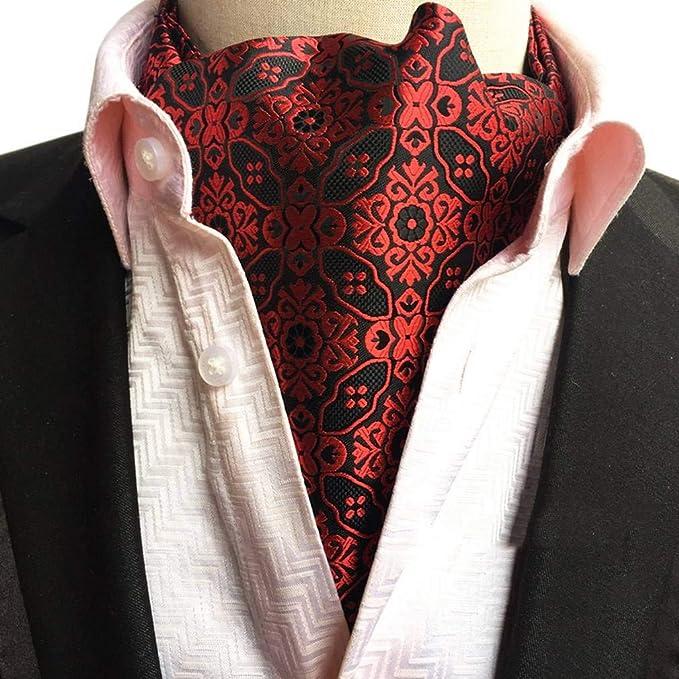 COMVIP Hombres Retro Paisley poliéster mal camisa de la corbata de ...