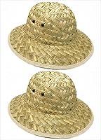 GiftExpress Adult Woven Safari Pith Hat 1 set of 2