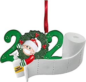Lynerona Personalized Quarantine Family 2020 Christmas Ornament Family Members Wearing Masks Present Decoration Home Decor for Kids Friends (Customize IT Yourself) (Family of 1)