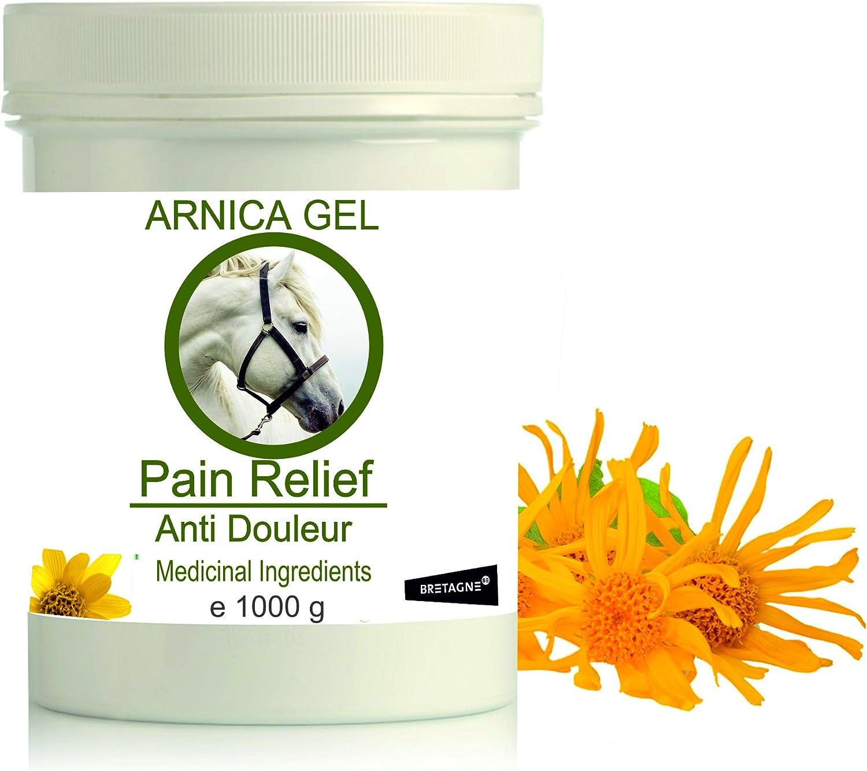 Gel de Árnica Montana 90% Caballos 1000g Acción Rápida Remedio herbal 100% Natural