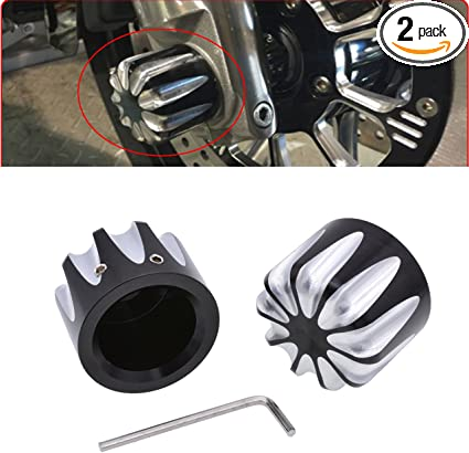 TUINCYN Black Motorcycle Front+Rear Axle Cover Cap Nut Bolt Kit Bike Decoration Accessories for Harley Sportster XL 883 1200 Dyna Touring V-Rod Softai Glide