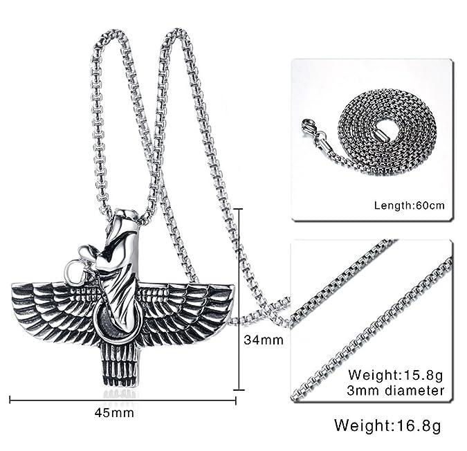 Stainless Steel Ahura Mazda Farvahar Zoroastrian Persian Achaemenian