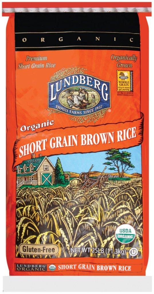 Lundberg Family Farms Organic Short Grain Brown Rice, 25 Pound