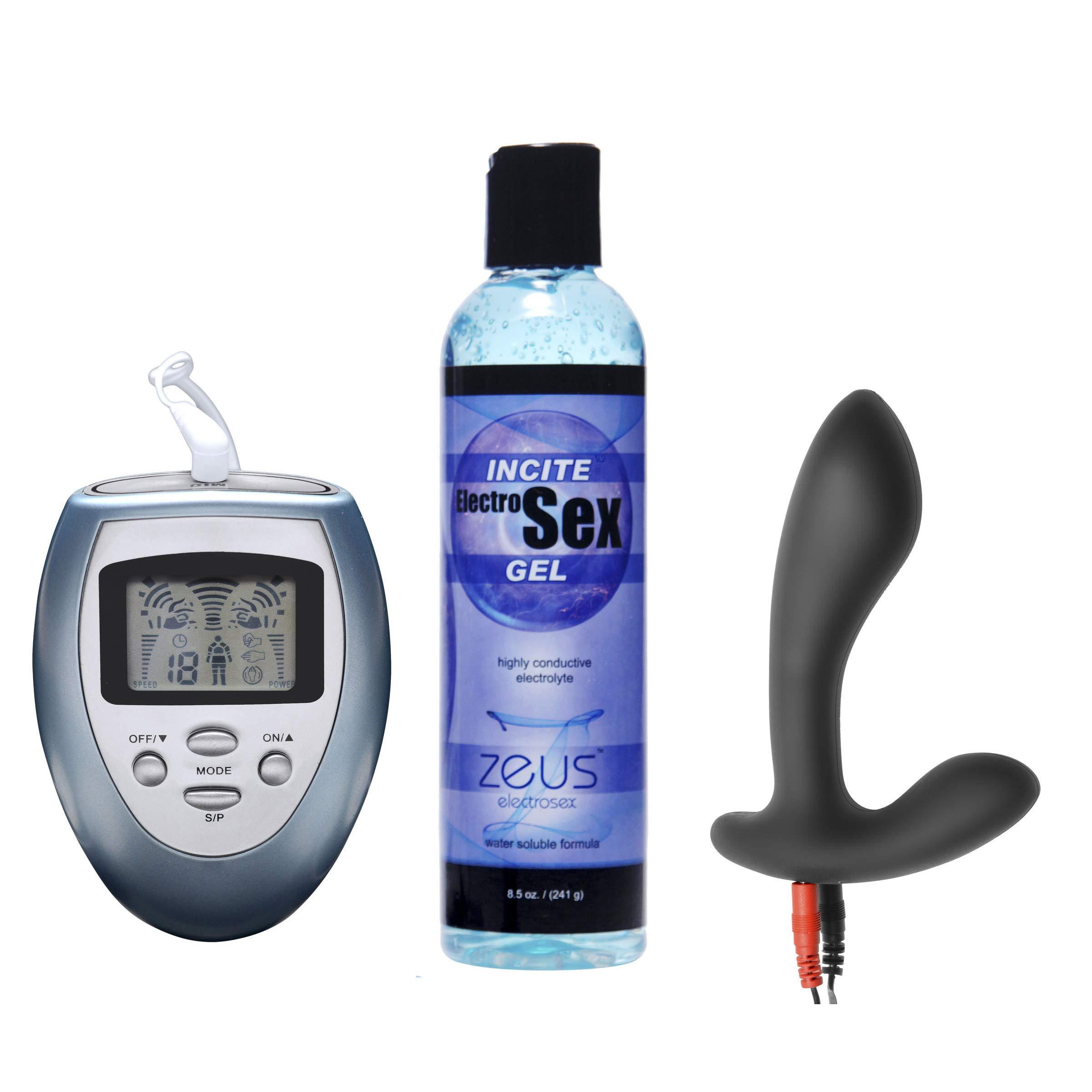 Electrify Your Prostate Silicone Estim Kit by Zeus Electrosex