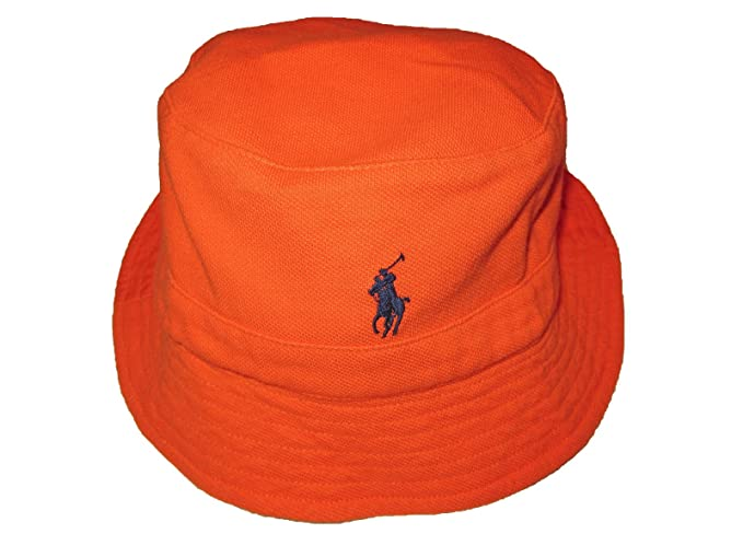 fd0de166bc7 Ralph Lauren Polo Mens Mesh Cotton Bucket Beach Hat (L XL