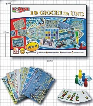 Unogiochi 204 - Juego de Mesa (10 en 1), Multicolor: Amazon.es: Juguetes y juegos