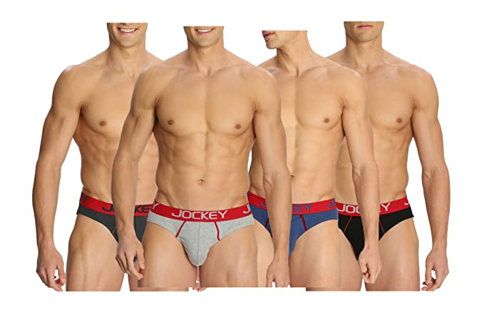 25b357de4165 Jockey Men's Cotton Modern Briefs US17 - Assorted Pack of 4 (Colors May  Vary,