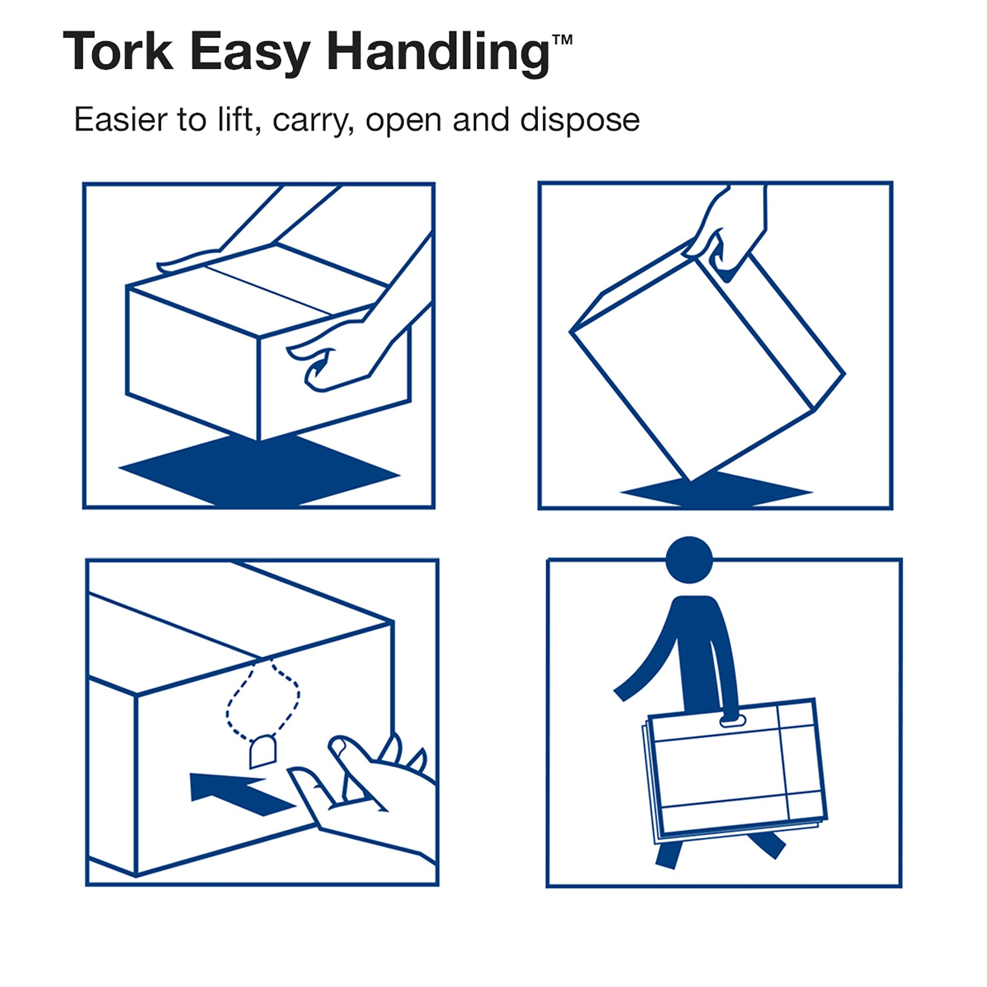 Tork Premium MB572 Soft Xpress Multifold Paper Hand Towel, 4-Panel, 2-Ply, 9.125'' Width x 3.625'' Length, White (Case of 32 Packs, 94 per Pack, 3,008 Towels) by Tork (Image #8)
