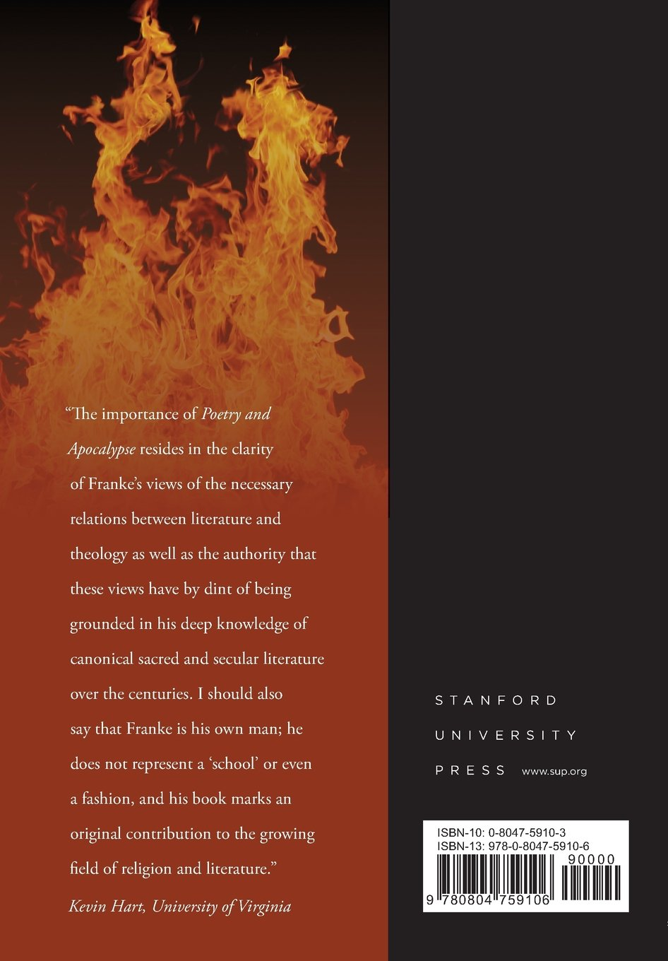 Poetry and Apocalypse: Theological Disclosures of Poetic Language (Cultural Memory in the Present) by Stanford University Press