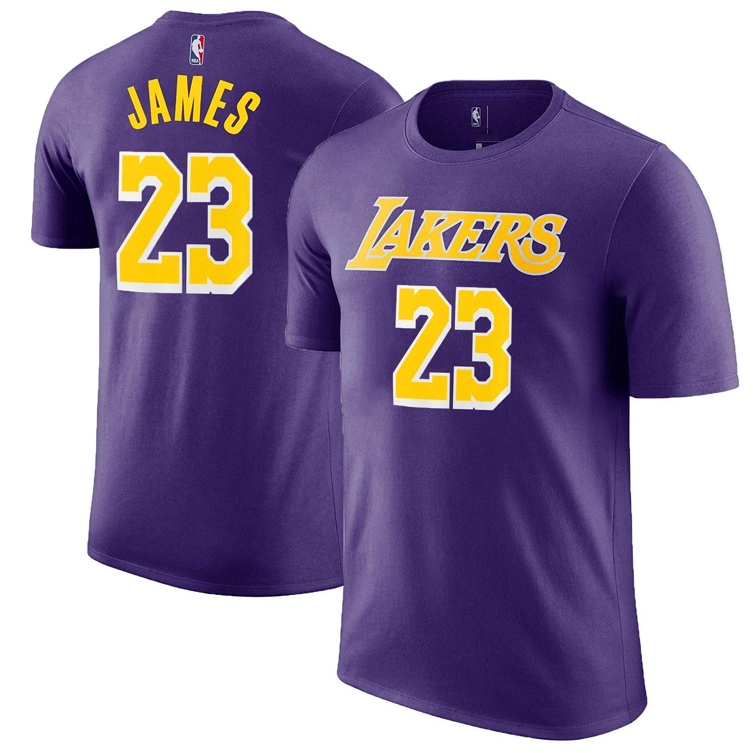 5a60eb111 Top3  Outerstuff Lebron James Los Angeles Lakers  23 Purple Youth Name and  Number Jersey T-Shirt