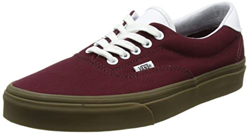 e25642b36a Vans Men s Era Lace-Up Low-top Sneakers Red ((Bleacher) Port Royale Gum) 12  UK  Buy Online at Low Prices in India - Amazon.in