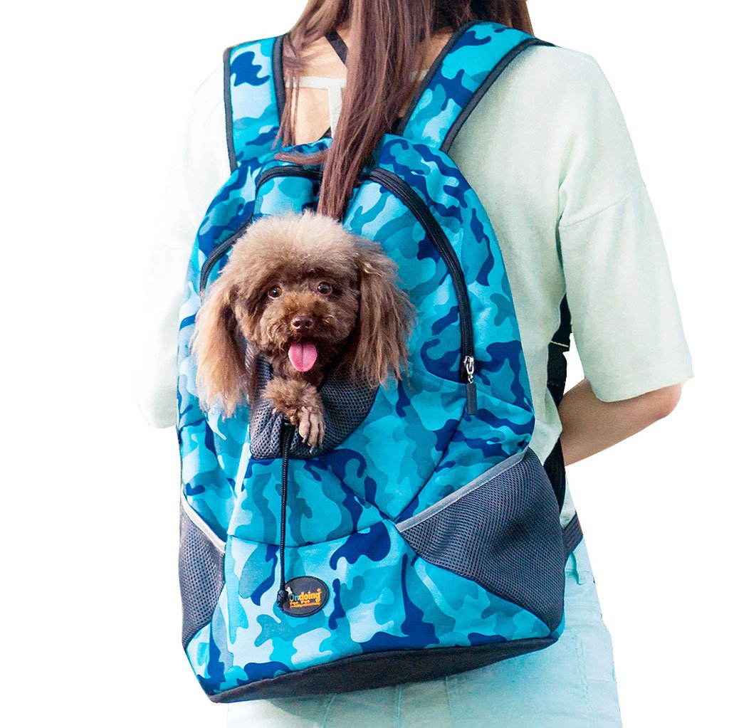 Camouflage bluee S Camouflage bluee S CS The Pet Knapsack Goes Out And Packaging Pet Supplies Cat And Dog Light And Comfortable Camouflage bluee Pink Green ( color   Camouflage bluee , Size   S )