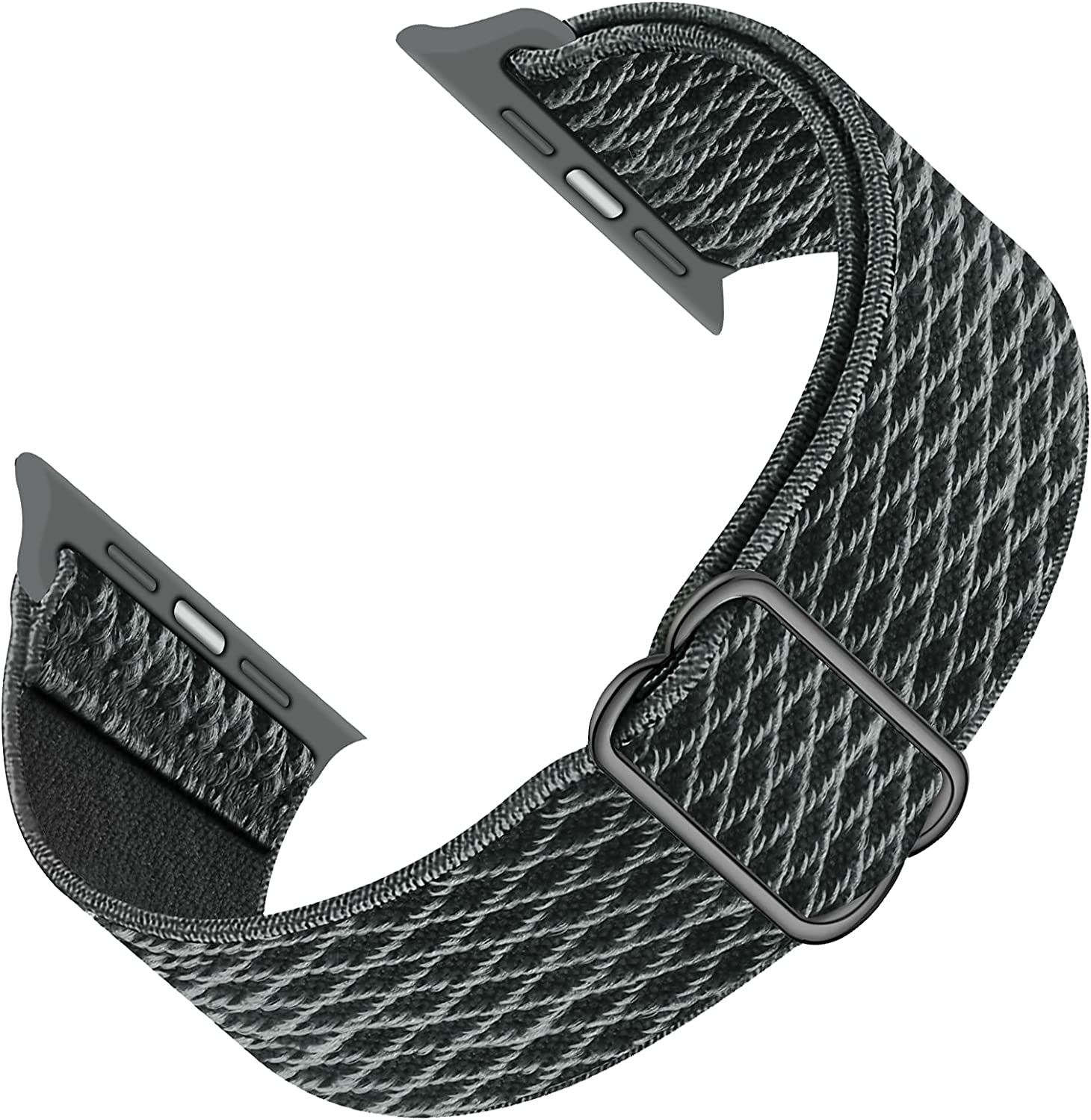 GZ GZHISY Sport Bands Compatible with Apple Watch 38mm 40mm 42mm 44mm iWatch Series 6 5 SE 4 3 2 1 Strap, Women Men Nylon Solo Loop Adjustable Stretchy Braided Elastic Bracelet Weave Soft Breathable
