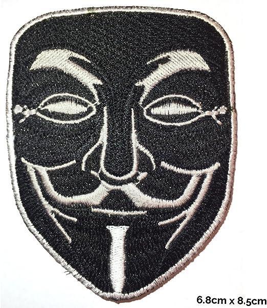 V para VENDETTA Anonymous – Parche de aplicación negra bordado ...