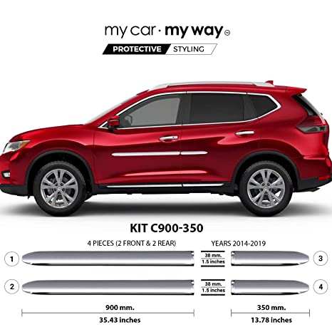 Nissan Rogue Msrp >> My Car My Way Fits Nissan Rogue Suv 2014 2019 Chrome Body Side Molding Cover Trim Door Protector