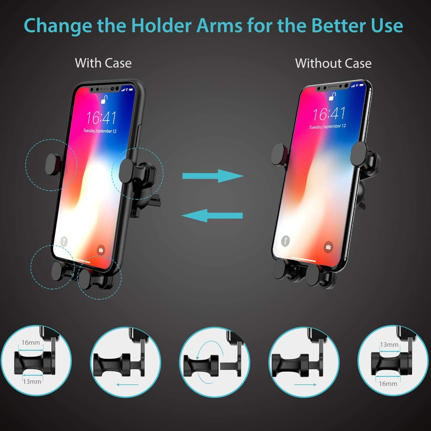 Samsung Galaxy S10 Plus//S10//S9//S8//S7//Note Series and More Syncwire 2-in-1 Air Vent Phone Holder Gravity Automatic Locking Universal Car Cell Phone Mount Compatible iPhone Xs MAX//XS//XR//X//8//8 Plus