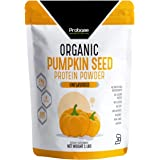 PROBASE NUTRITION Organic Pumpkin Seed Protein Powder - Plant Based - Vegan - Unflavored - Unsweetened - 1 Pound   No Added S
