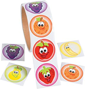 Fun Express Fruit Roll Stickers - Stationery - Stickers - Stickers - Roll - 1 Piece