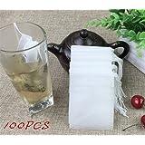 Interesting® 100PCS / Lot Tè 5.5 x 7cm vuote Borse tè profumato con lo spago Heal guarnizione del filtro di carta per Herb Tè allentato