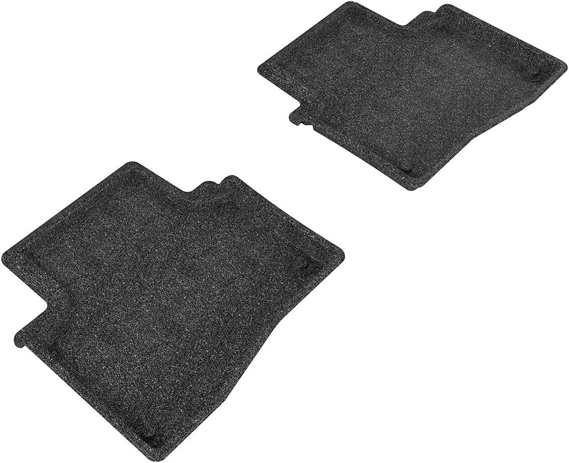 3D MAXpider Front Row Custom Fit All-Weather Floor Mat for Select Acura RLX Models Black Classic Carpet