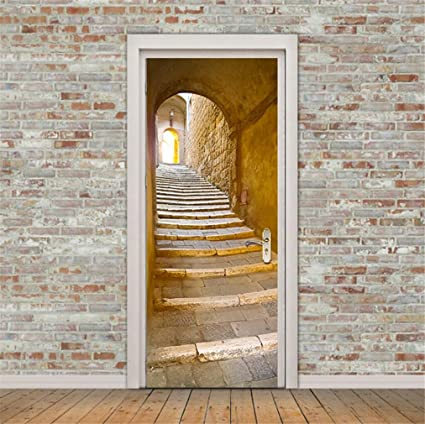 Amazoncom SENGE Door Murals Door Decals Door Wall Sticker Door